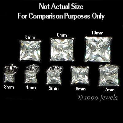 earrings grams bezel mm sterling silver p cz round length weight stud width