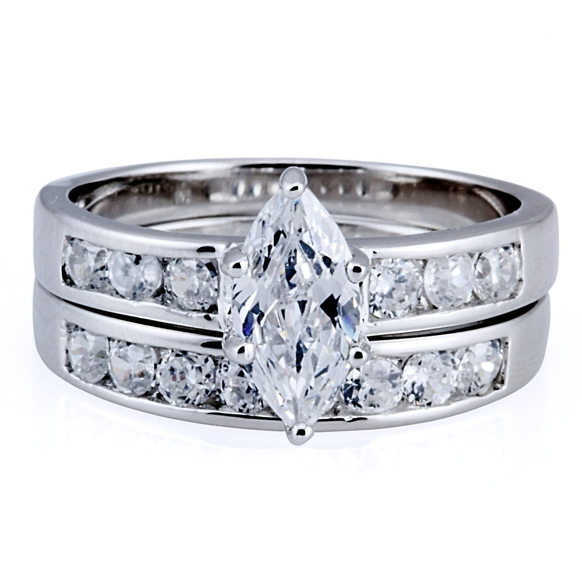 theresa 184c marquise cut russian ice cz diamond wedding ring set 1000jewelscom - Marquis Wedding Ring