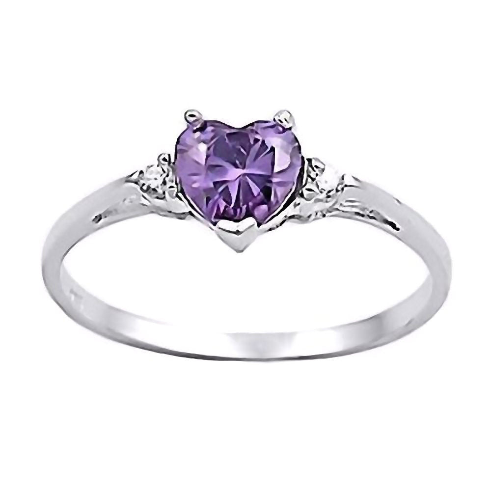 Amy 0 81ct Heart Cut Russian Amethyst Ice Cz Promise