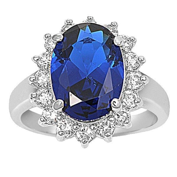 Catherine 7ct Sapphire Simulated Diamond Royal Ring 925 Silver 1000jewels Com