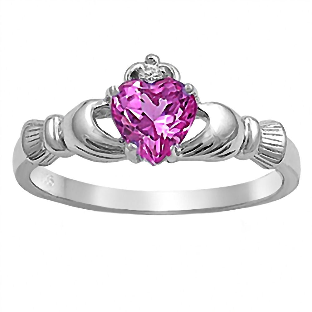 products october birthstone fantasy heart angel wedding ring pink wing tourmaline jewelry online rings