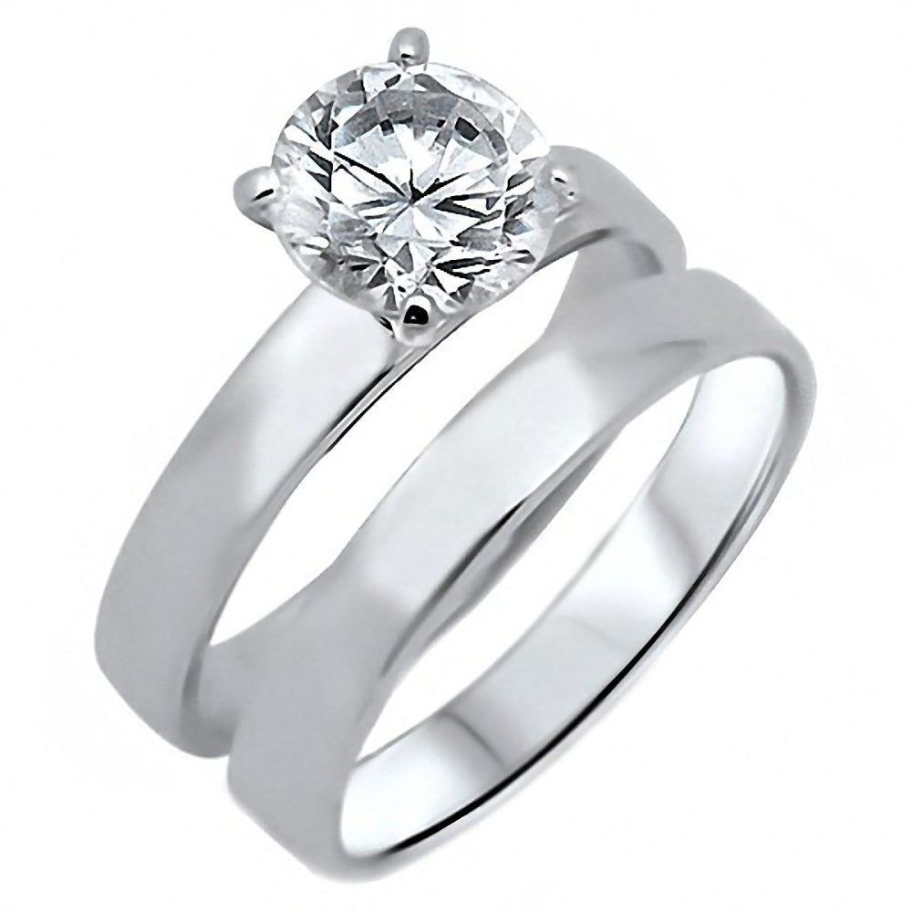 Adelle 20ct Russian Ice On Fire Cz 2 Pc Wedding Ring Set 925 Silver: 2 Pc Wedding Ring Sets At Reisefeber.org
