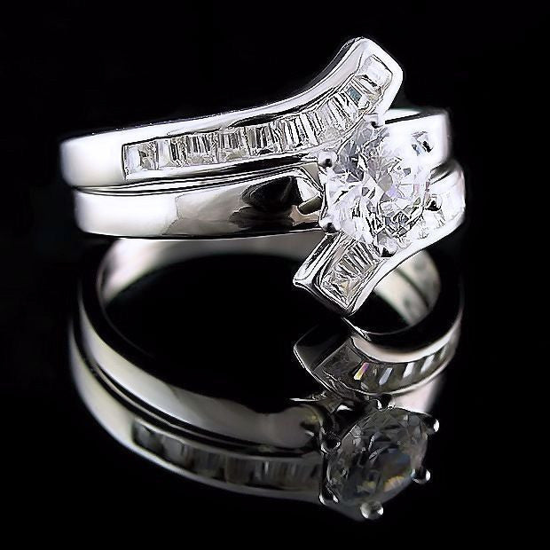 a3766d889 Caprina: 1.8ct Flared Bypass Russian Ice on Fire CZ Wedding Ring Set -  1000Jewels.com