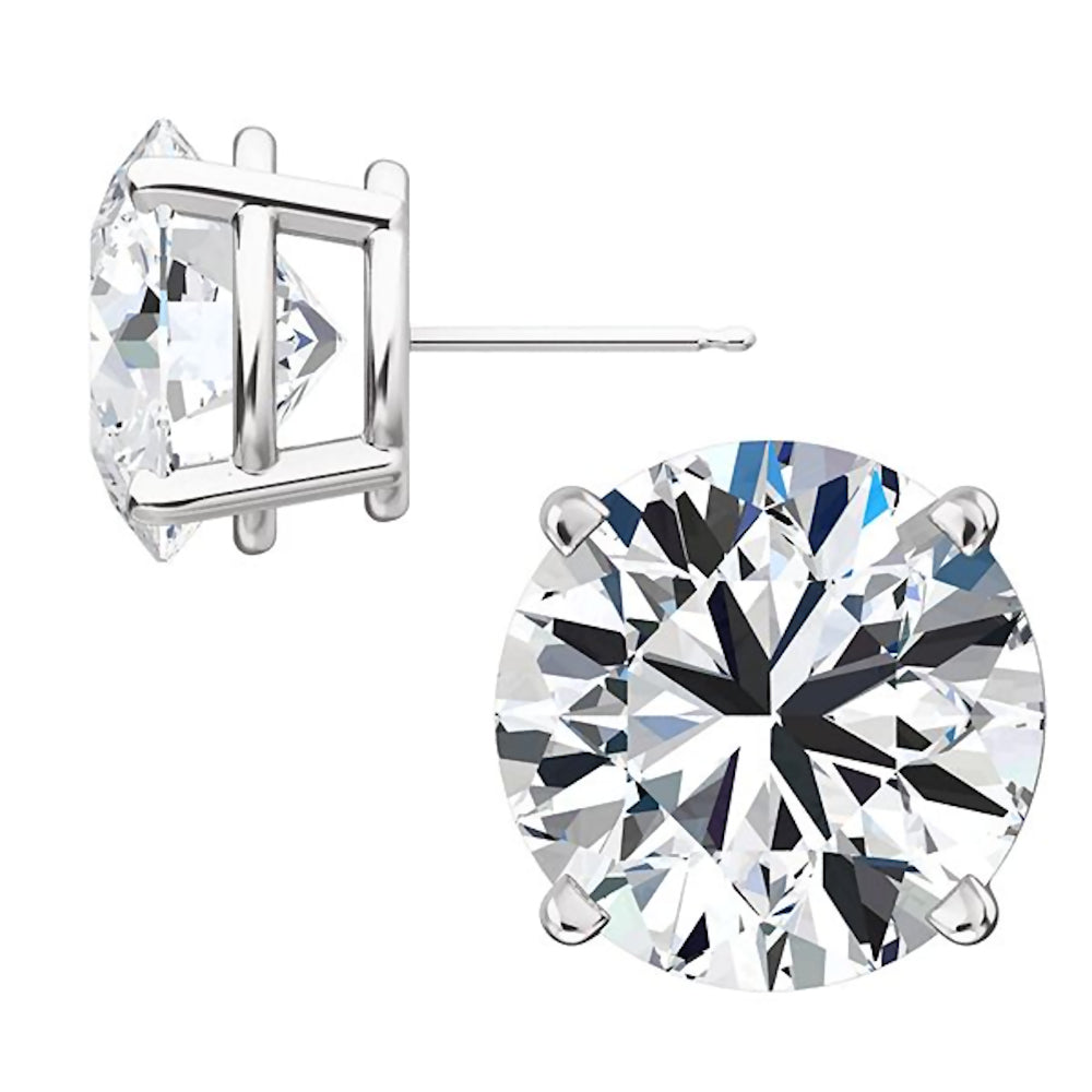 diamond magnetic piercing itm non plated unisex ebay s men silver earrings cz stud studs