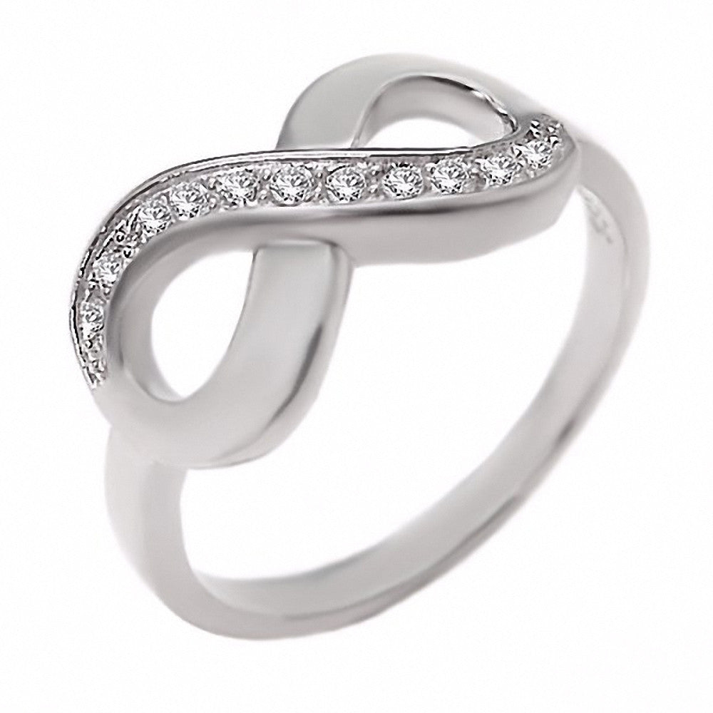 Ophira 0165ct Russian Ice Cz Infinity Symbol Promise Ring 925