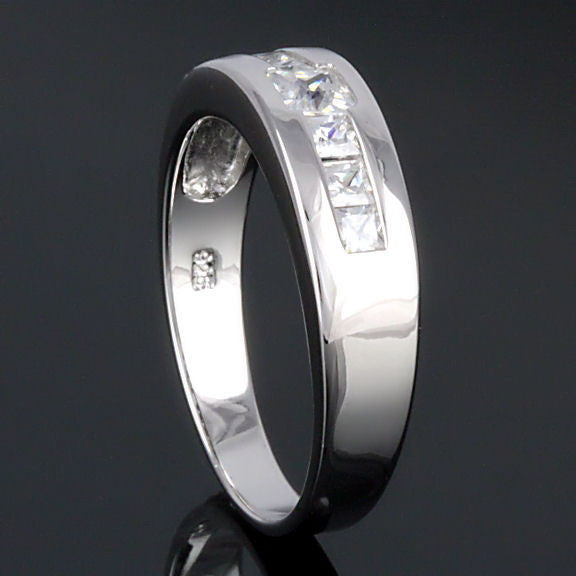 dallas mens 0 7ct ice on fire russian cz channel band ring