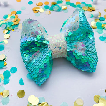 Mermaid Flip Sequin Bow