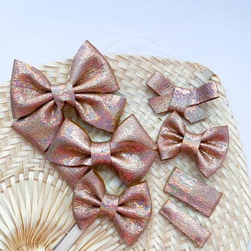 Iridescent Desert Vegan Leather Bow