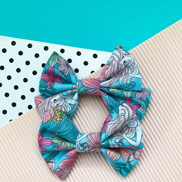 Pastel Mermaid Bow