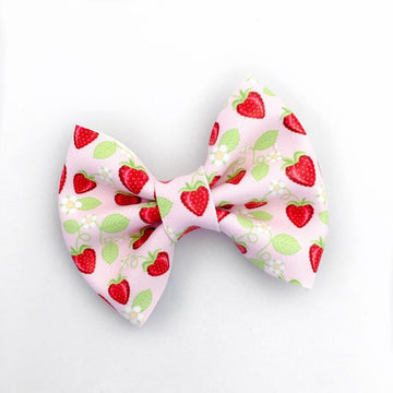Strawberry Fields Vegan Leather Beverly Bow