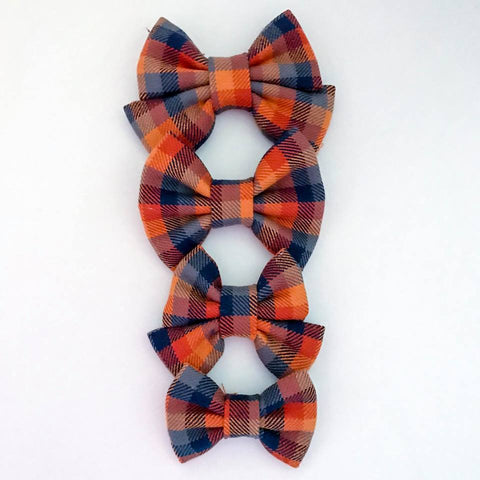 Apple Cider Plaid Bow