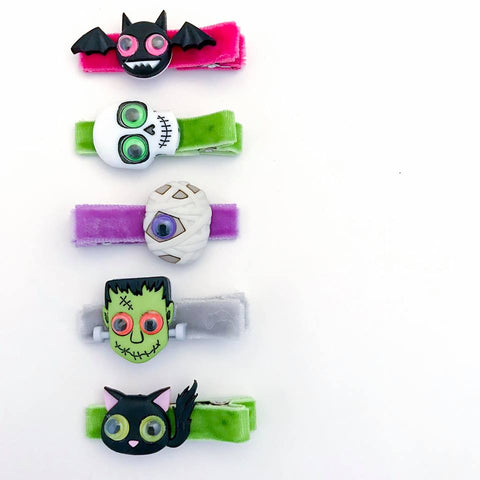 Scary Monsters Bitsy Clips