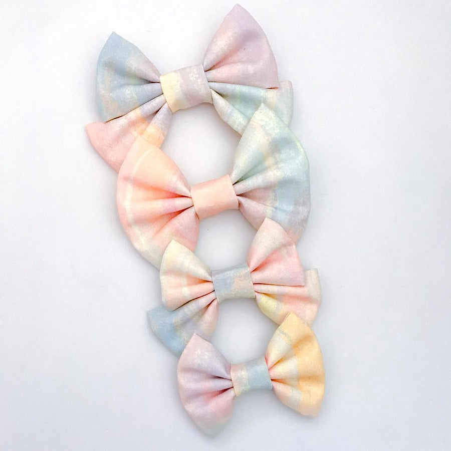 Pastel Ombre Clouds Bow
