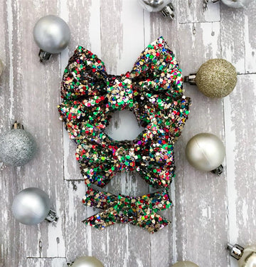 Jingle Bells Glitter Bow