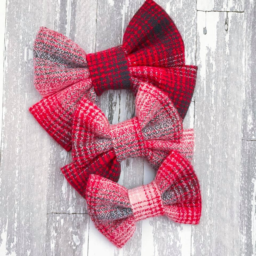 Cozy Fireside Plaid Bow