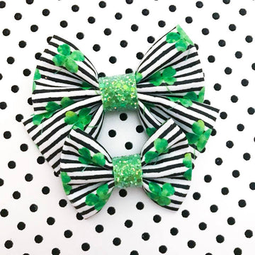 Shamrock Stripe Bow