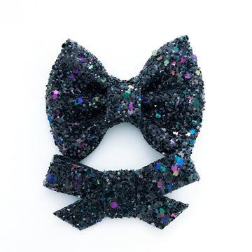 Deep Space Glitter Bow