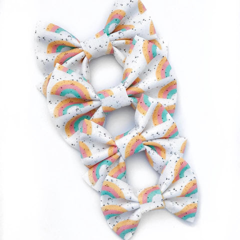 Vintage Rainbow Speckle Bow