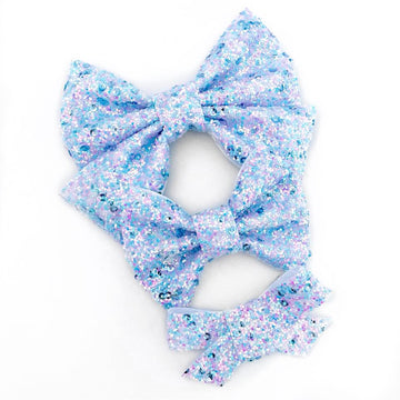 Cotton Candy Sequin Bow