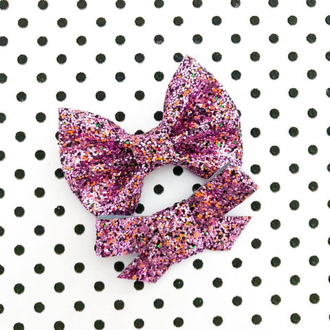 Monster Mash Glitter Bow