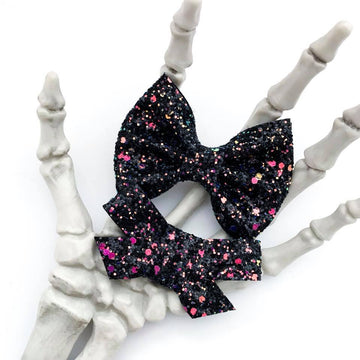Spooky Twilight Glitter Bow