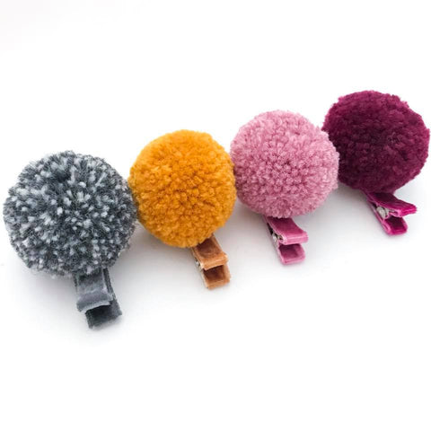 Autumn Harvest Pom Clips