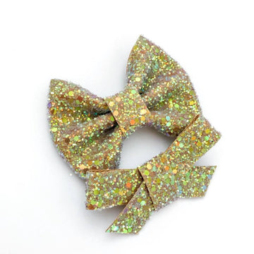 Butterbeer Glitter Bow