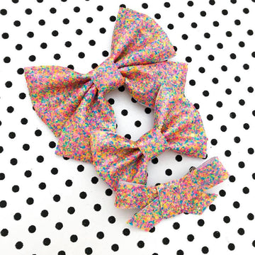 I Want Candy Glitter Bow