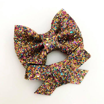 Autumn Jewels Glitter Bow