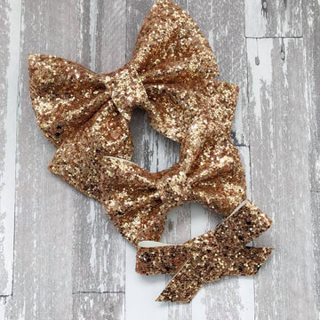 Golden Glitter Bow