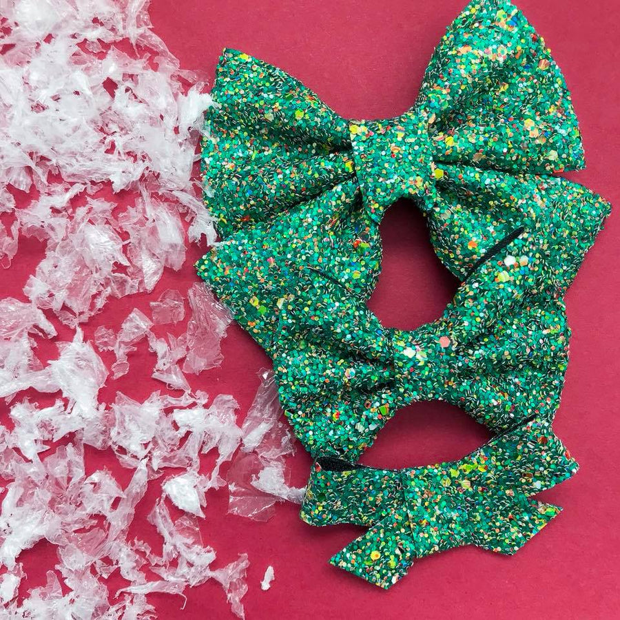 Trim The Tree Glitter Bow