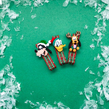 Christmas Mickey Gang Bitsy Clips