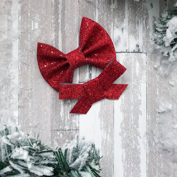 Red Glitz and Glam Glitter Bow