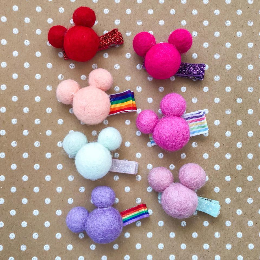 Mickey Woolie Ball Clips