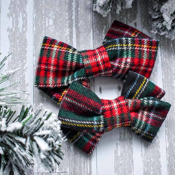 Sleigh All Day Plaid Bow