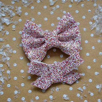 Gingerbread Glitter Bow