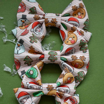 Christmas Donuts Bow