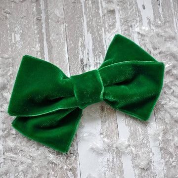 Evergreen Velvet Bobbi Bow