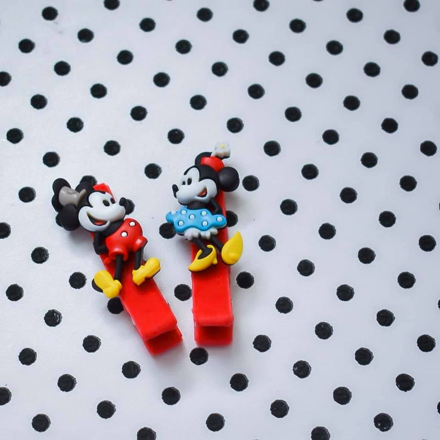 Vintage Mickey & Minnie Bitsy Clips