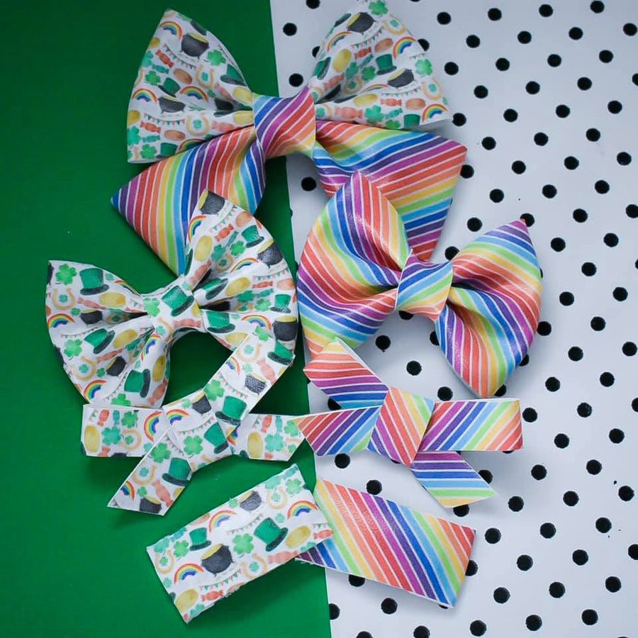 Pot of Gold Vegan Leather Bow