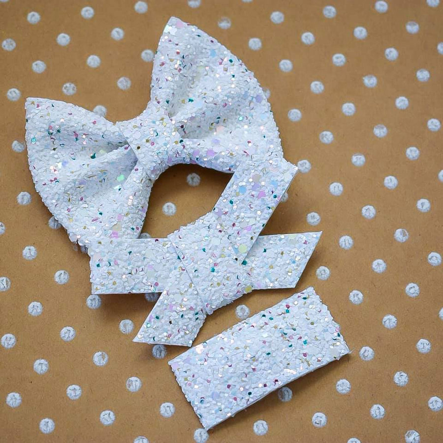 Bunny Bejeweled Glitter Bow