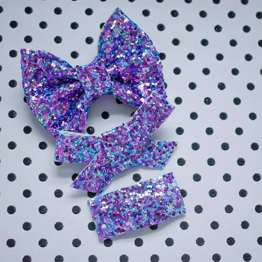 Mermaid Tail Glitter Bow