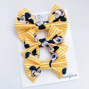Mickey Stripe Bow