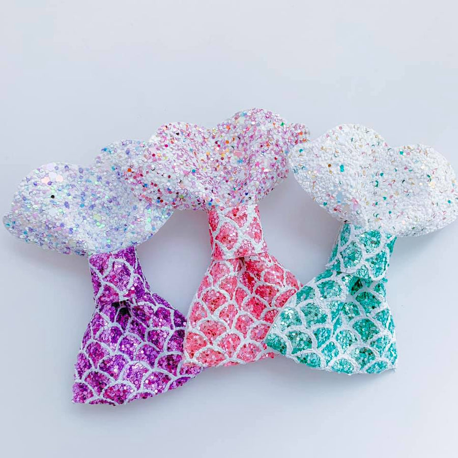 Cotton Candy Mermaid Tail Bows