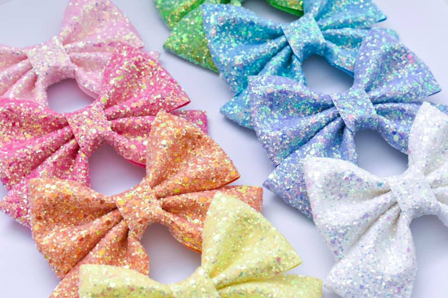 Unicorn Rainbow Set Glitter Blake Bows