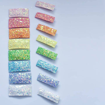 Unicorn Rainbow Set Glitter Snap Clips OR Bar Clips