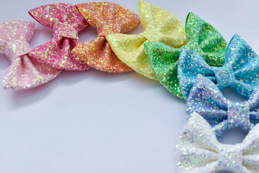 Unicorn Rainbow Set Glitter Beverly Bows
