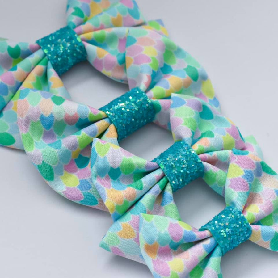 Rainbow Mermaid Bow