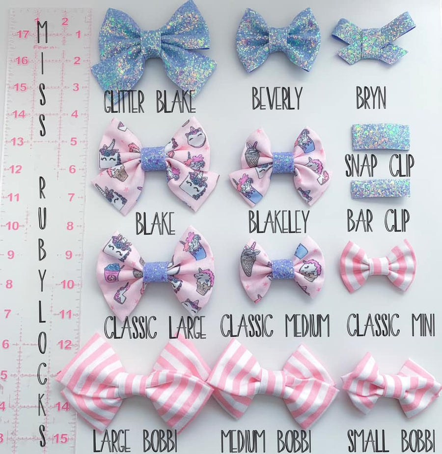 Neon Rainbow Stripe Bow