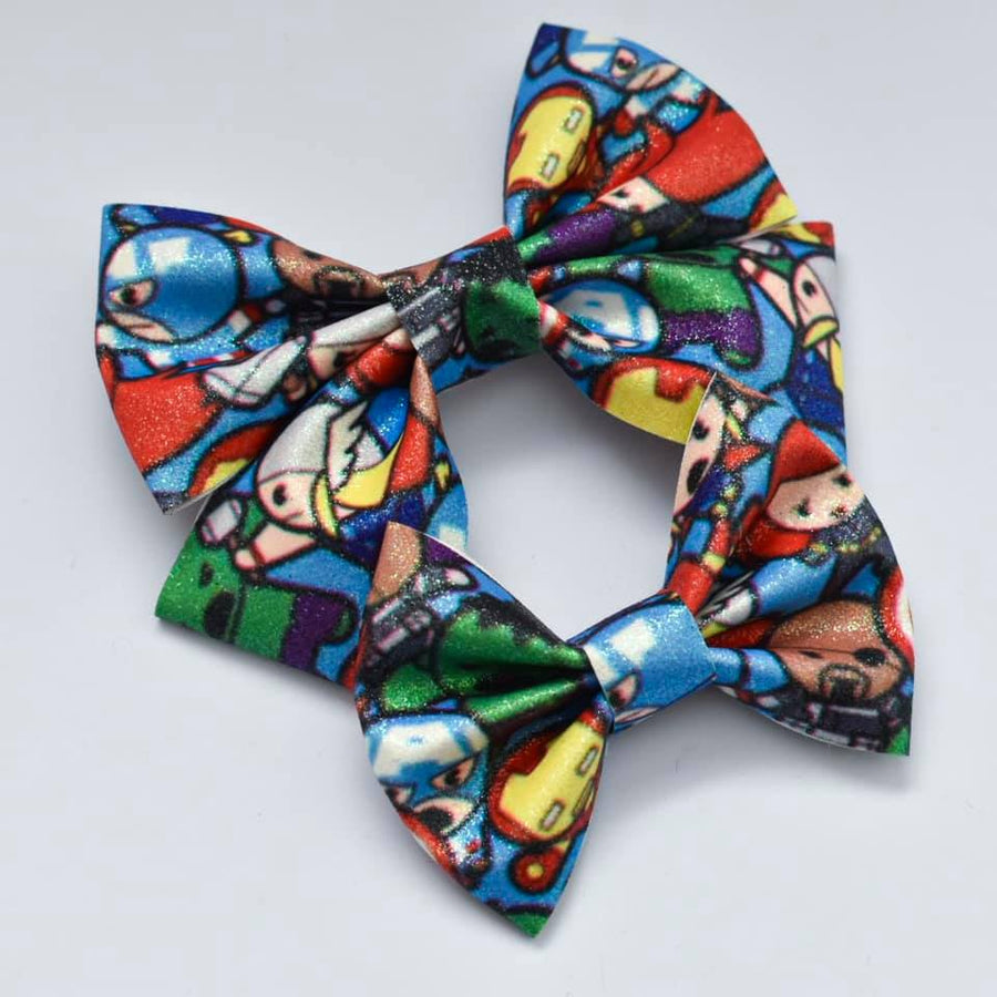 Superhero Glitter Bow